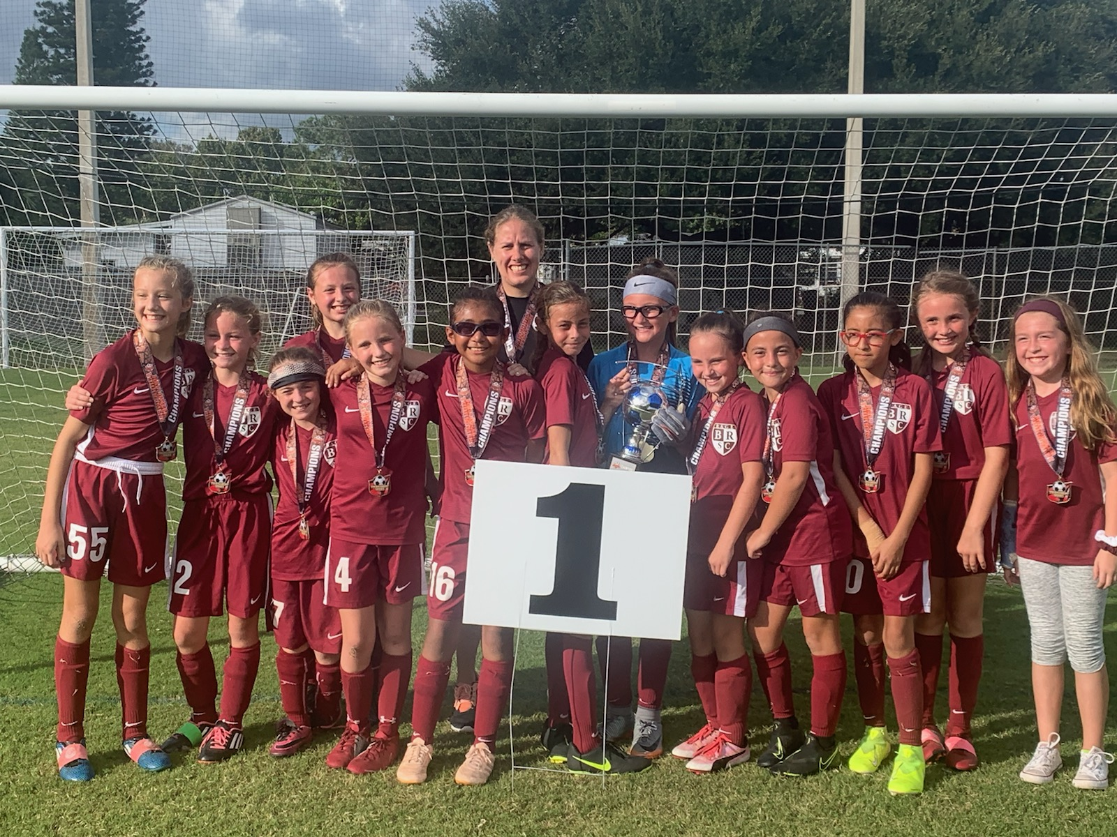 Coach Destiny and her 2009 Girls win the Largo Tournament!