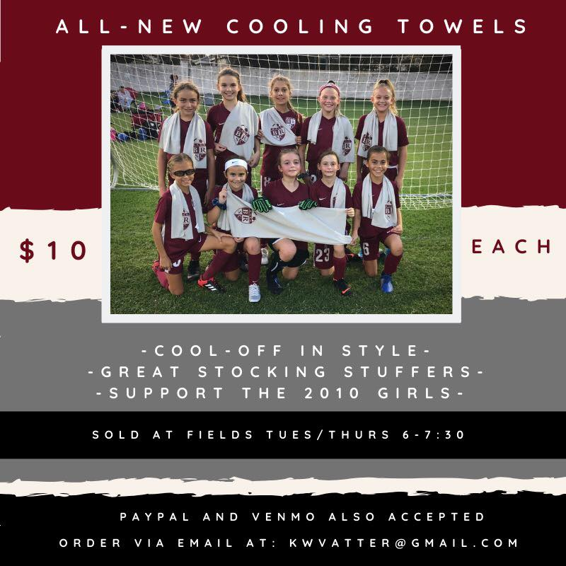 2010 GIRLS TEAM - COOLING TOWEL FUNDRAISER